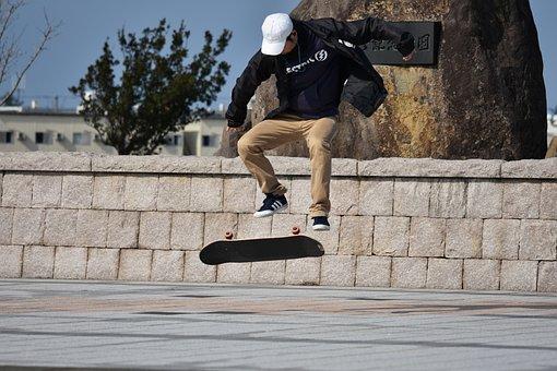 Sports, Skateboard, Fun, I Am Young, Earphone, Hip Hop