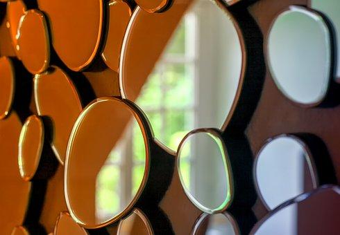 Mirror, Modern, Art, Technology, Detail, Close Up