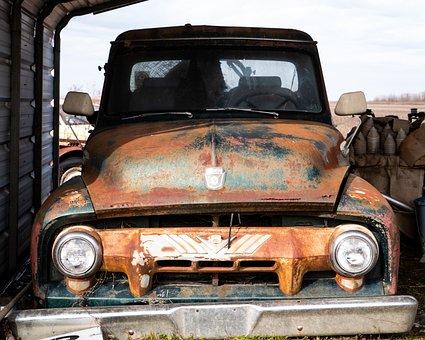 Vintage, Truck, Old, Vehicle, Abandoned, Pickup