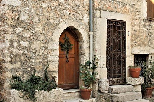 House, Medieval House, Door, Window, Pierre, Wood
