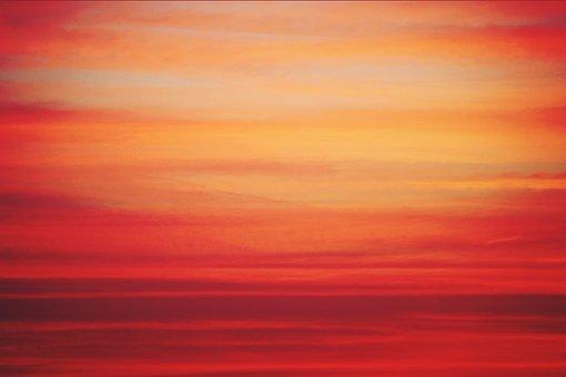 Sunset, Sun, Clouds, Abendstimmung, Dusk, Sky, Mood