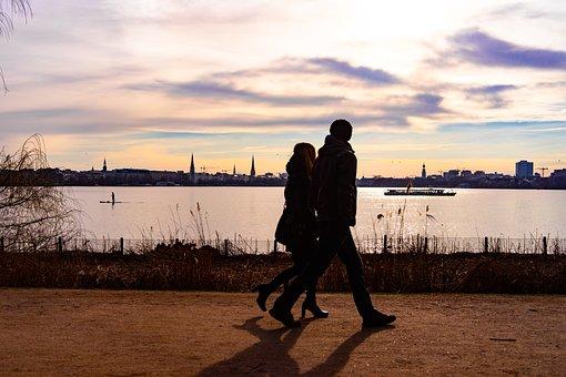 Hamburg, Walkers, Alster, Human, Nature, Walk, Mood