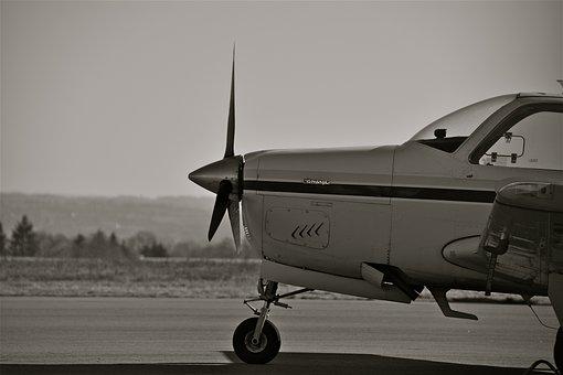 Aircraft, Beechcraft Bonanza, Aviation, Propellers