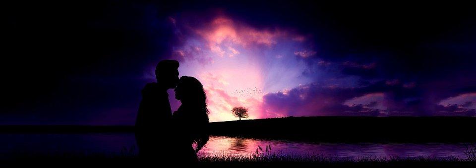 Love, Romance, Tree, Couple, Silhouette, Heart
