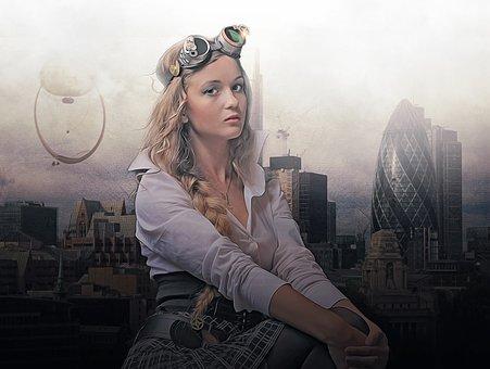 Steampunk, Fantasy, Portrait, Fantasy Portrait, Woman