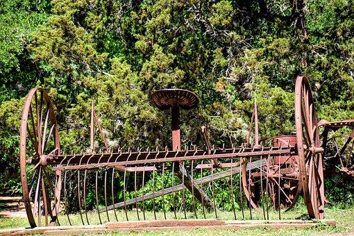 Vintage Hay Rake, Vintage Farm Equipment, Farm