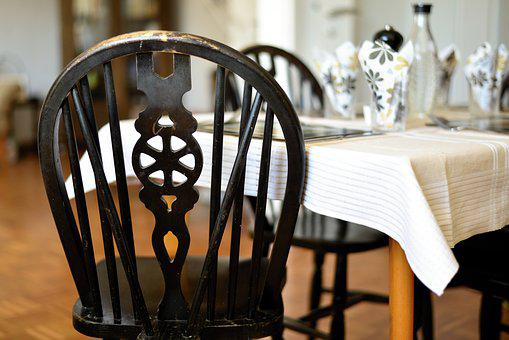 Chair, Table, Ornament, Gedeckter Table, Furniture