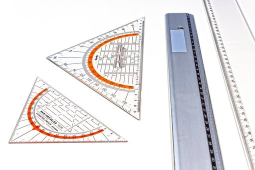 Ruler, Geometry, Geodreieck, School, Education