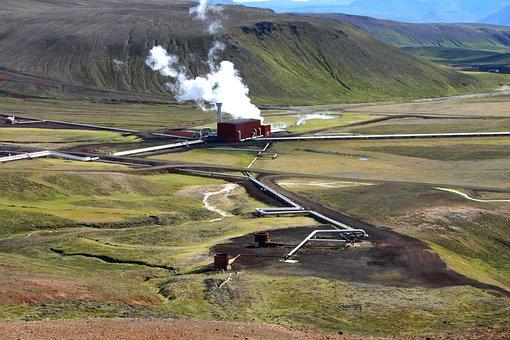 Iceland, Power Plant, Geothermal Energy, Krafla