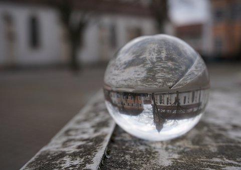 Glass Ball, Glass Ball Photography, Nature, Cloudiness