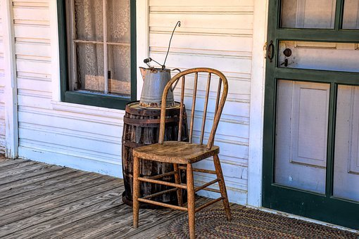 Porch, Vintage, Chair, Old, House, Home, Architecture