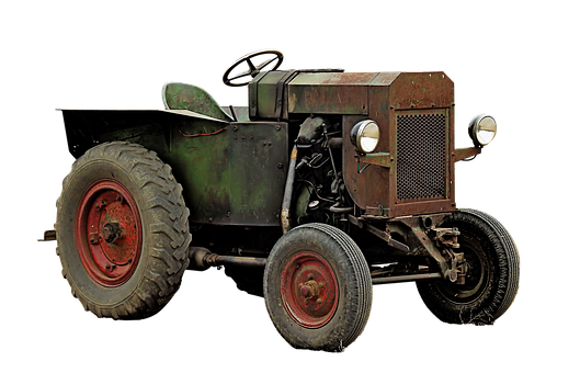 Tractor, Tractors, Agriculture, Isolated