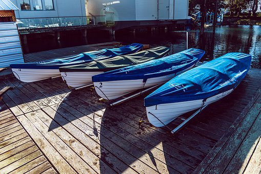 Marina, Boat, Boats, Dock, Ocean, Kayaks, Covered