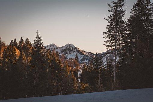 Landscape, Winter, Snow, Mountains, Mountain Peaks