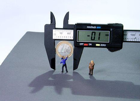 Calipers, Minus Interest, Miniature Figures, 1 Euro