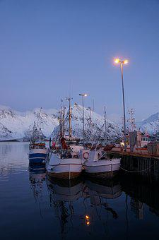 Lofoten, Norway, Port, Boat, Fishing, Winter, Travel