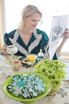 Breakfast, Shamrock Cookies, Cookies, St, Paddy's Day