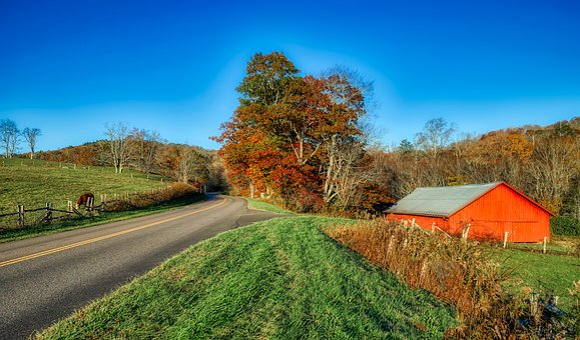 North Carolina, America, Panorama, Hdr, Autumn, Fall