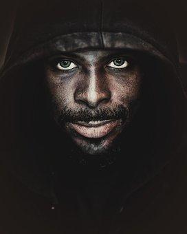 Man, Hood, Person, Dark, Male, Portrait, Darkness