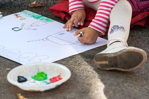 Child, Drawing, Picture, Figure, Draws, Sheet, Paint