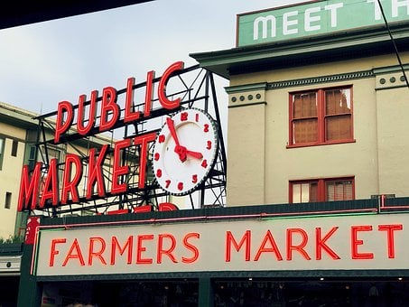 Market, Seattle, Washington, Pike, Place, Public Market
