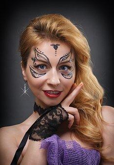 Portrait, Krupnyj Plan, Woman, Girl, Makeup