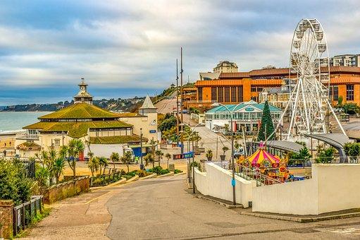 Bournemouth, Seaside, Luna Park, Pavilion, Beach