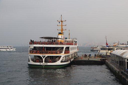 V, Ship, Passenger, Iskele, Marine, Istanbul, Eminönü