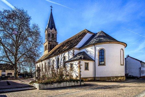 Church, Faith, Chapel, Steeple, Romance, Trees, Green