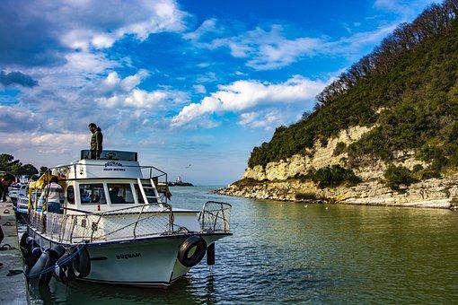 Marine, Boat, Water, Sky, Nature, Ocean, Sunset, Blue
