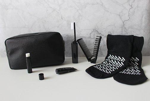 Cosmetic Bags, Travel, Toothbrush, Lipstick, Socks