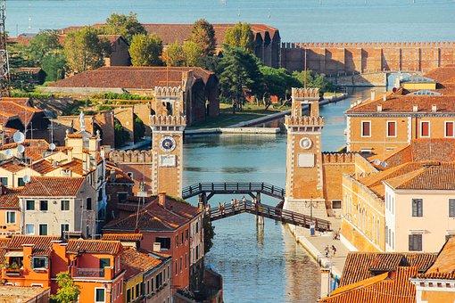 Venetian Arsenal, Venice, Southern Europe