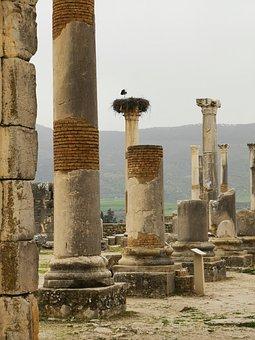 Volubilis, Stones, Romans, Morocco, Stone, Antiquity