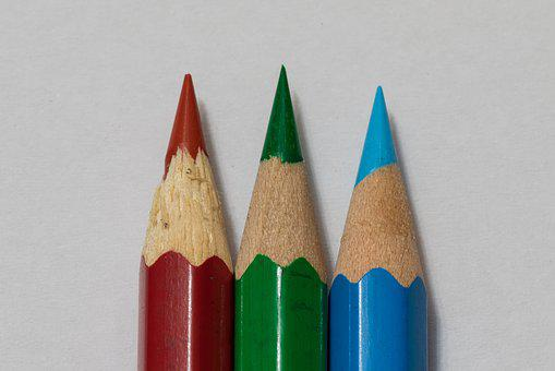 Colored Pencils, Colorful, School, Draw, Write, Pointed