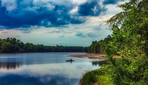 Basto Lake, Pine Barrens, New Jersey, America, Rowboat