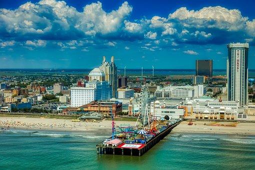 Atlantic City, New Jersey, America, Hdr, Pier, Sea