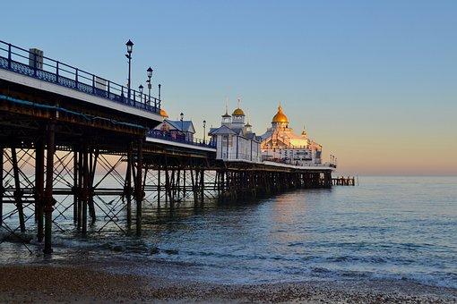 Eastbourne, Pier, Eastbourne Pier, Beach, Sea, Coast