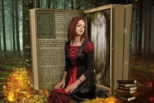 Fantasy, Fairytale, Gothic, Dream, Magic, Books, Female