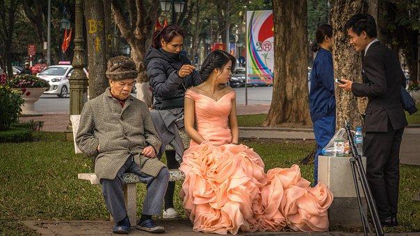 Photo Shoot, Outdoor, Bride, Wedding Picture, Dress