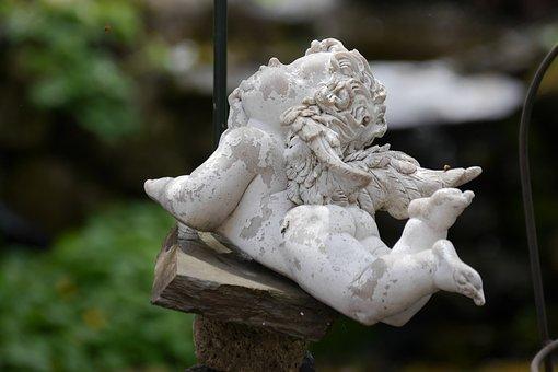 Cherub, Angel, Garden Decoration, Stone
