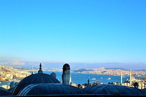 Istanbul, City, Architecture, Marine, Landscape, Turkey