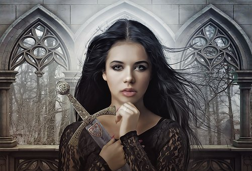 Joan Of Arc, Fantasy, Fantasy Portrait, Dark, Gothic