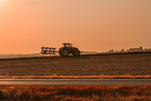 Field, Tractor, Fields, Labour, Agriculture, Farm
