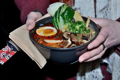 Ramen, Food, Enjoy, Tasty, Noodles, Presentation, Plate