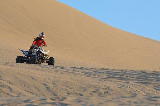 Huacahina, Peru, Sand, Four Wheel, Dessert, Dry, Race
