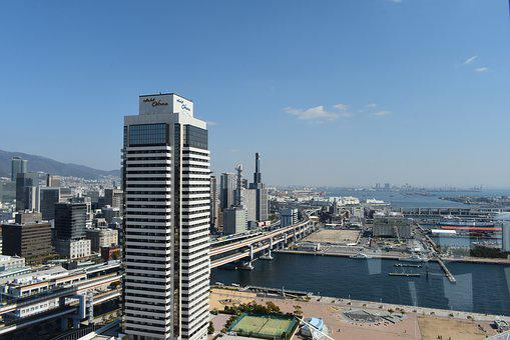 Kobe, Japan, Kobe Port Tower, Kobe Skyline