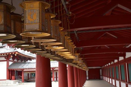 Shitennoji Shrine, Japan, Tennoji, Bronze Lanterns