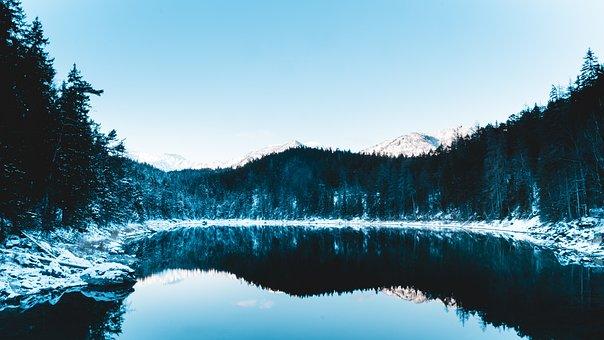 Eibsee, Zugspitze, Garmisch, Bavaria, Nature, Lake