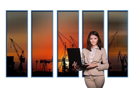 Businesswoman, Female, Laptop, Notebook, Management