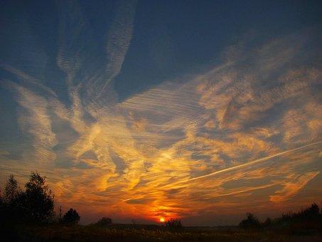 Nature, Autumn, October, Morning, Sunrise, Colorful